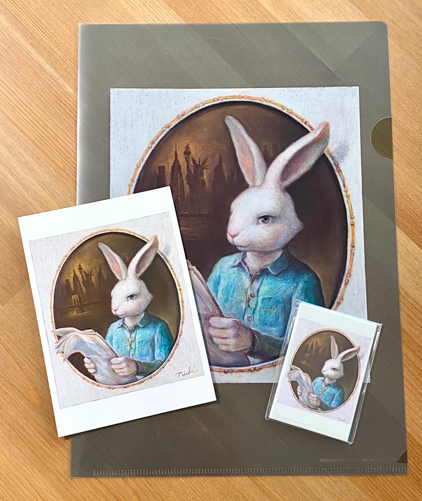 「ギアス氏の肖像」ポストカード、A4ファイル、マグネット