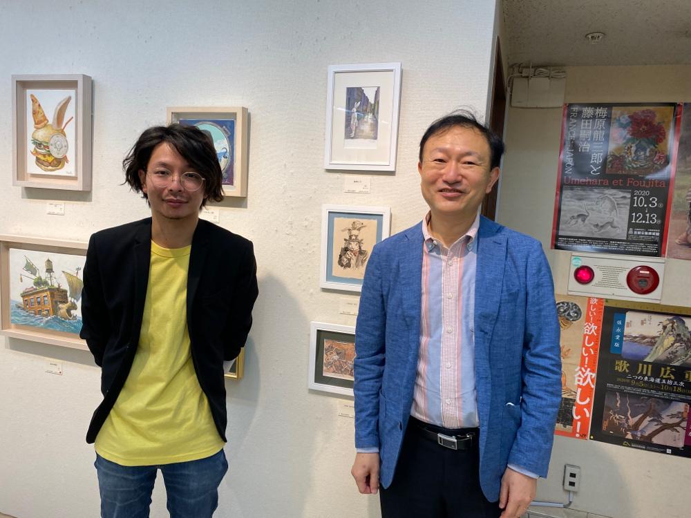 ニューヨークへ渡る時、ステートメントを英語にするため、ご指導頂いた泉幸男先生が作品を購入してくださいました!本格的に学べる「銀座ビジネス英語gym」お勧めです。