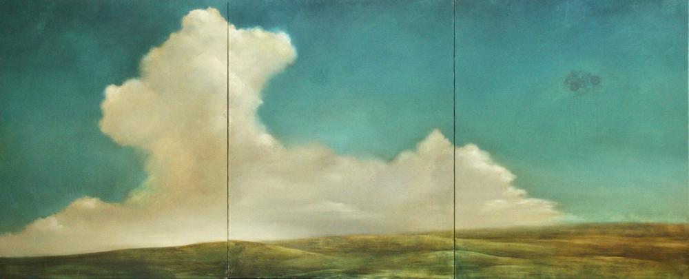 「mellow breeze」原太一作、2008年、キャンバスに油彩、50号キャンバス✖️3