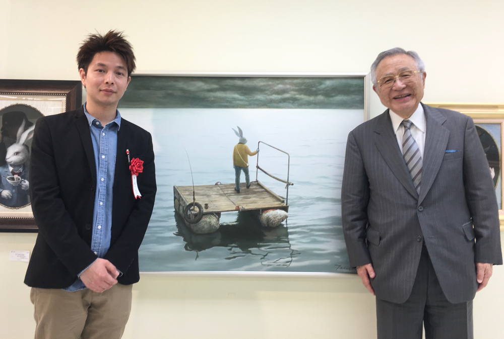 田村哲山校長先生と撮影