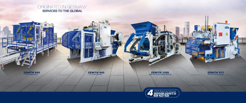 Hersteller Betonsteinmaschinen - Zenith