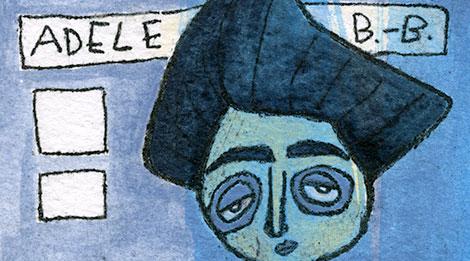 Auschnitt einer Illustration von Adele Bloch-Bauer nach Gustav Klimt