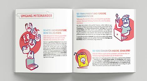 Illustration eines Rentners in der Sprechstunde mit einem Arzt