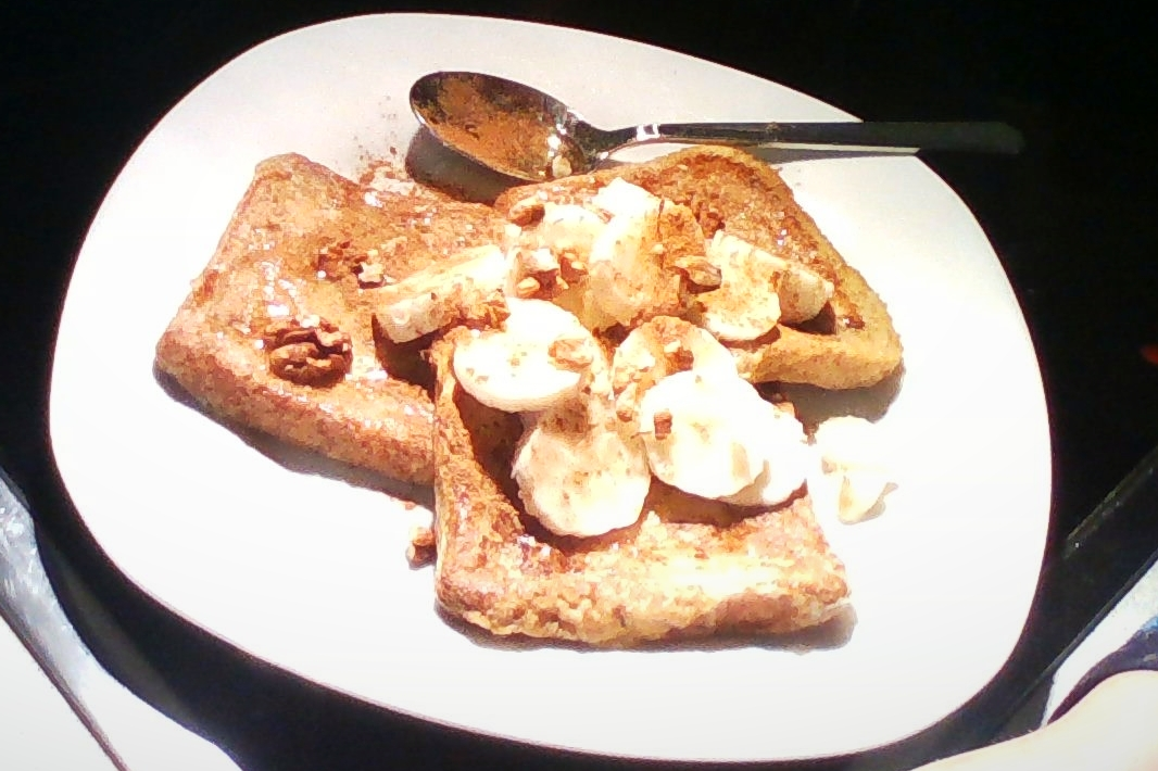 Whole Grain French Toast with Bananas and Walnuts