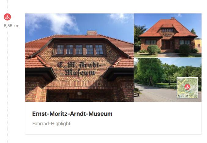 Radtour zum Ernst-Moritz-Arndt Museum