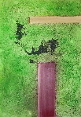 "Nr. 142 ""Weg ins Grüne"", 70x50cm, 60,-€"