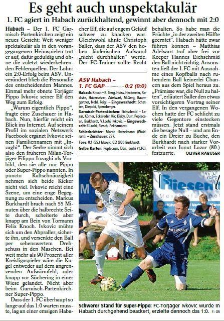 Ga-Pa Tagblatt vom 14.09.2015