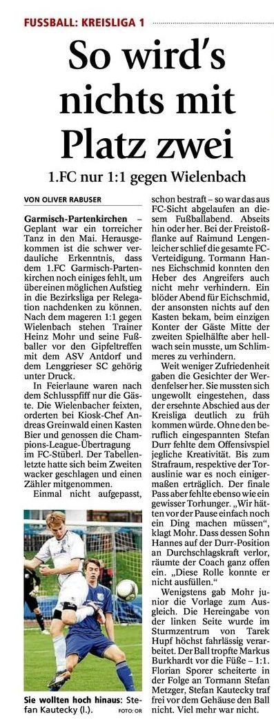 Ga Pa Tagblatt vom 02.05.2013