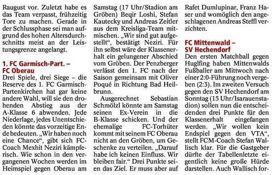 GaPa Tagblatt vom 12.05.2012