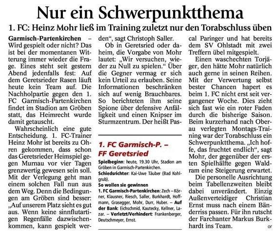 GaPa Tagblatt vom 07.11.2012