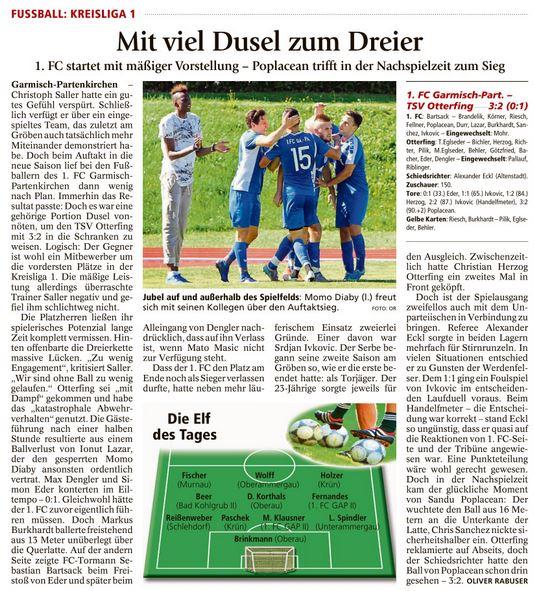 Garmischer Tagblatt vom 16.08.2016