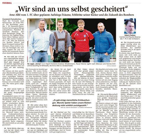 Ga-Pa Tagblatt vom 25.06.2016
