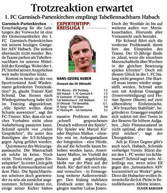GaPa Tagblatt vom 27.09.2014
