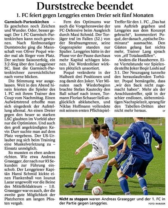 GaPa Tagblatt vom 2.April 2012