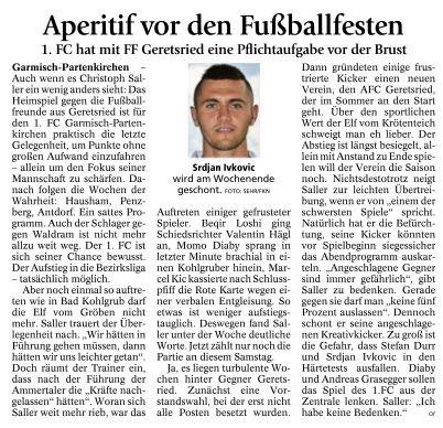 Ga-Pa Tagblatt vom 02.04.2016