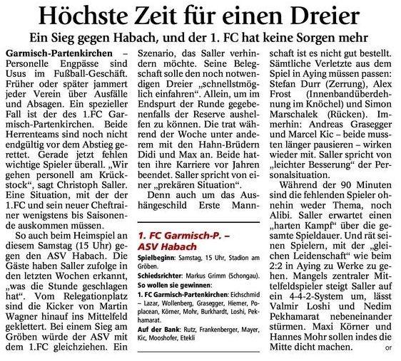 GaPa Tagblatt vom 09.05.2015