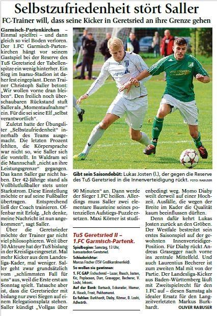 Ga-Pa Tagblatt vom 10.10.2015