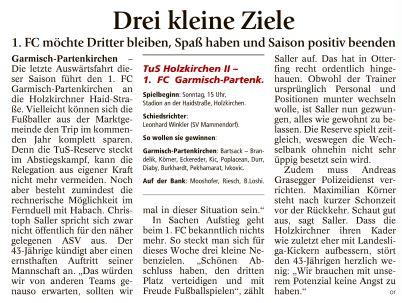 Ga-Pa Tagblatt vom 28.05.2016
