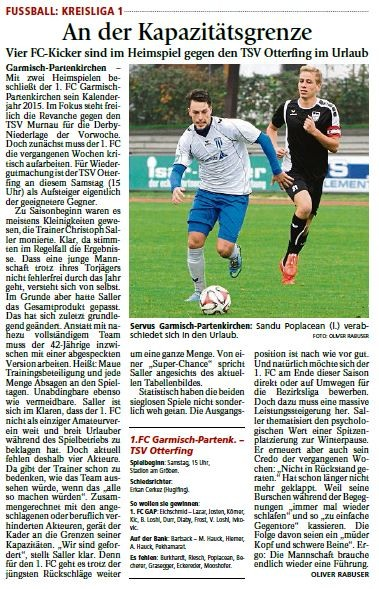 Ga-Pa Tagblatt vom 07.11.2015