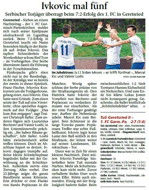 Ga-Pa Tagblatt vom 12.10.2015