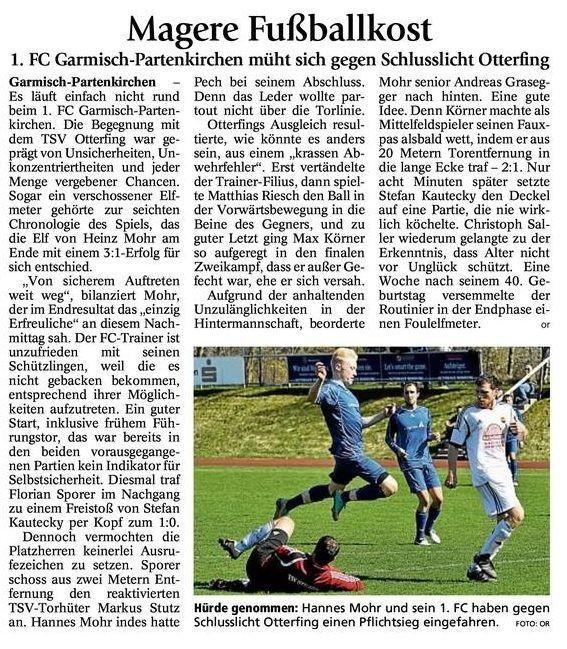 Ga Pa Tagblatt vom 15.04.2013