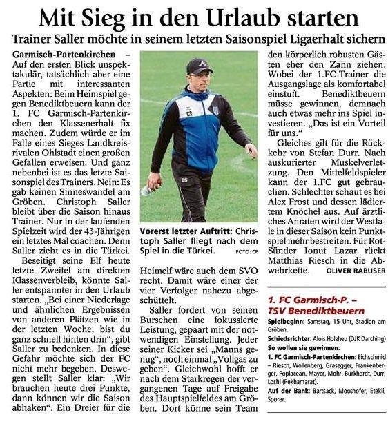 Ga-Pa Tagblatt vom 26.05.2015