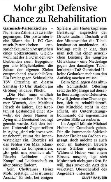 GaPa Tagblatt vom 13.04.2013