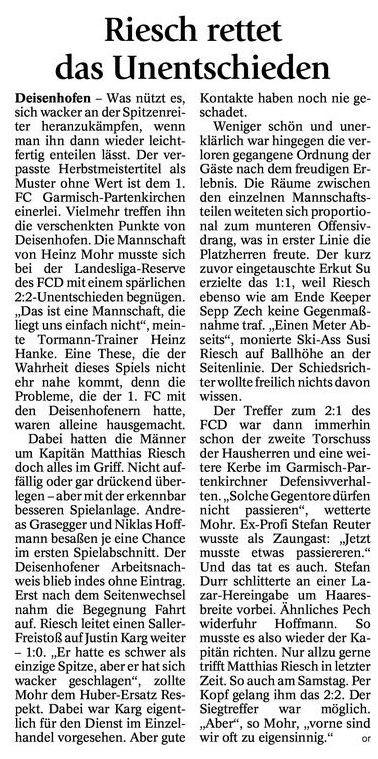 GaPa Tagblatt vom 12.11.2012
