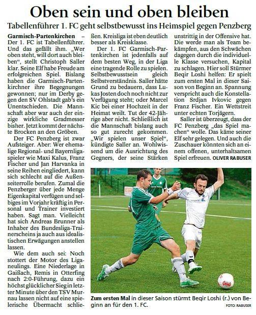 Ga-Pa Tagblatt vom 29.08.2015