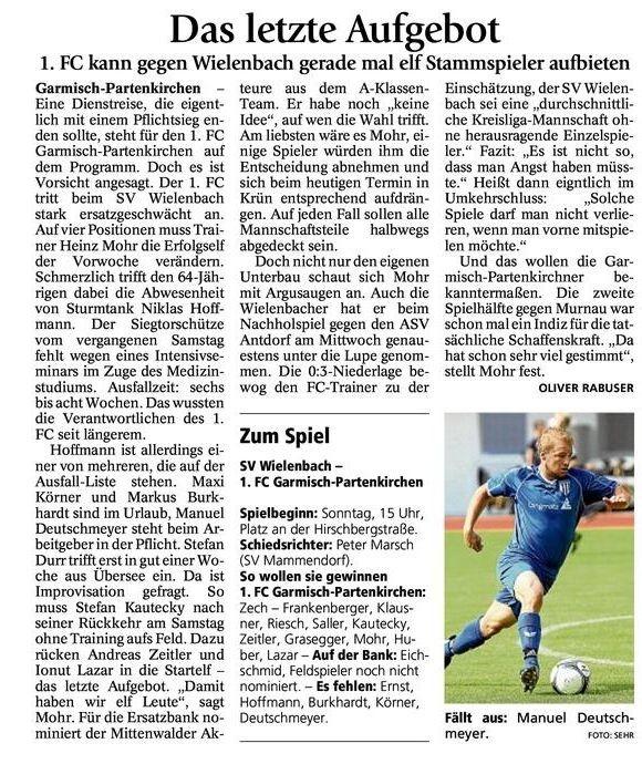 GaPa Tagblatt vom 18.08.2012