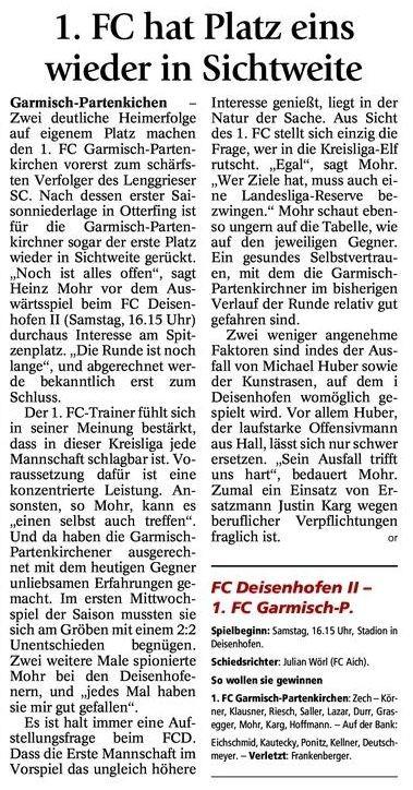 GaPa Tagblatt vom 10.11.2012