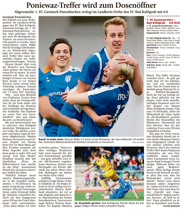 Ga-Pa Tagblatt vom 15.10.2016