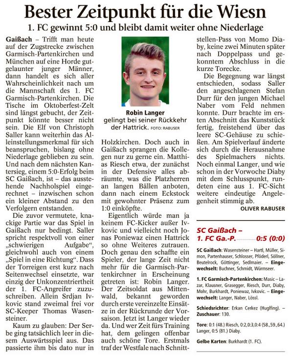 Ga-Pa Tagblatt vom 26.09.2016