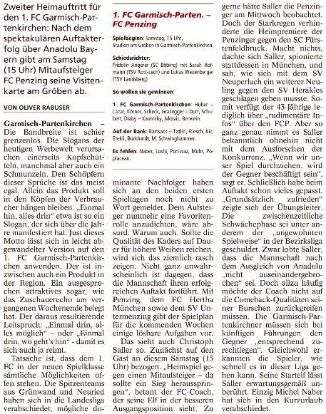 Garmischer Tagblatt vom 29.07.2017