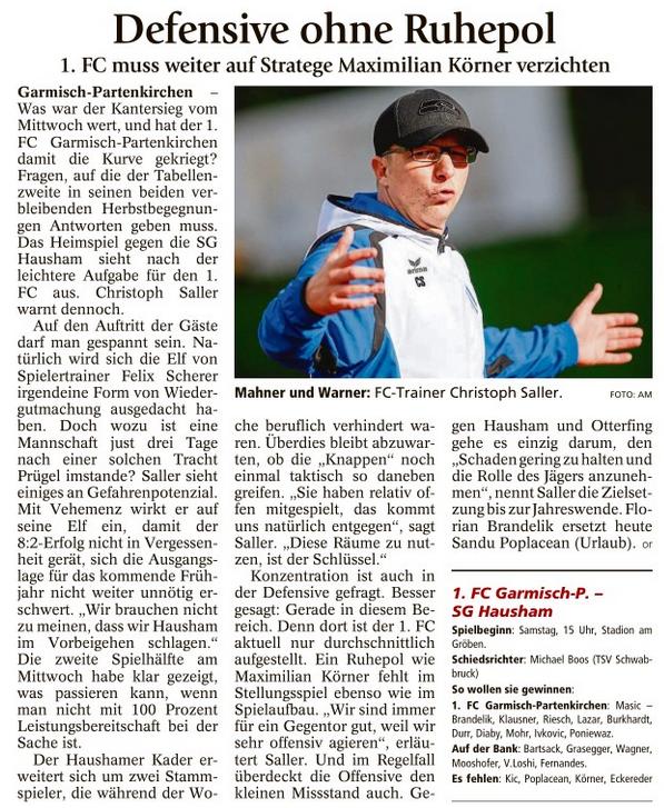 Ga-Pa Tagblatt vom 05.11.2016