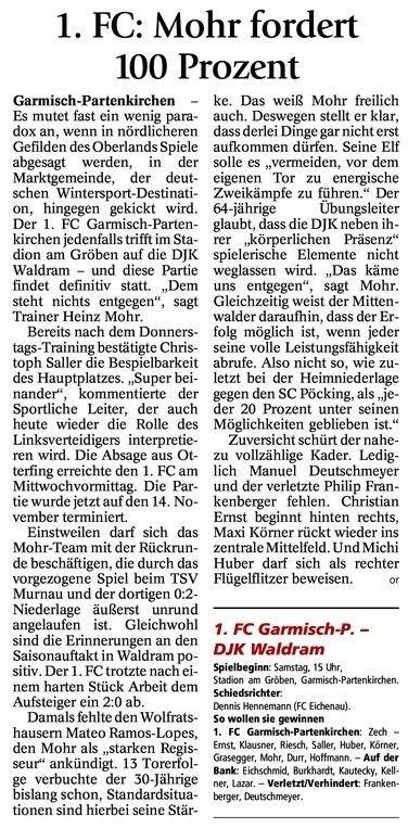 GaPa Tagblatt vom 03.11.2012