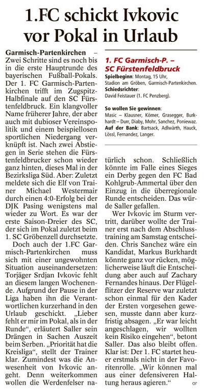 Ga-Pa Tagblatt vom 01.10.2016
