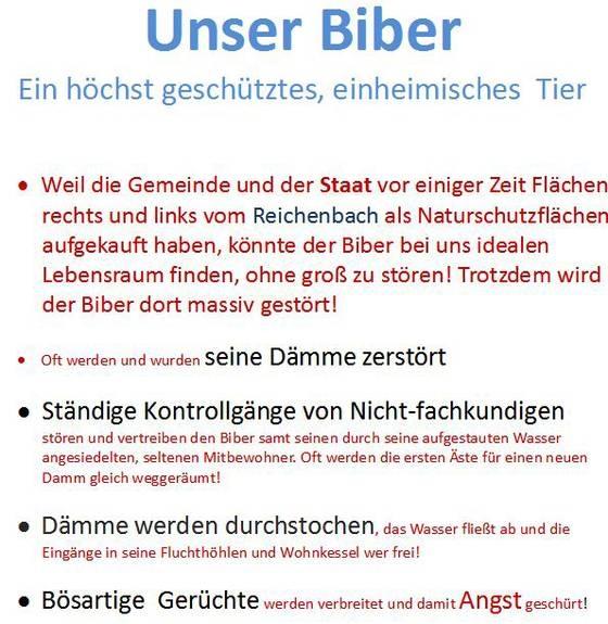 Der Biber im Reichenbachtal zwischen Ammerstetten und Staig - bund ...