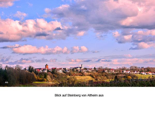Blick auf Steinberg von Altheim aus