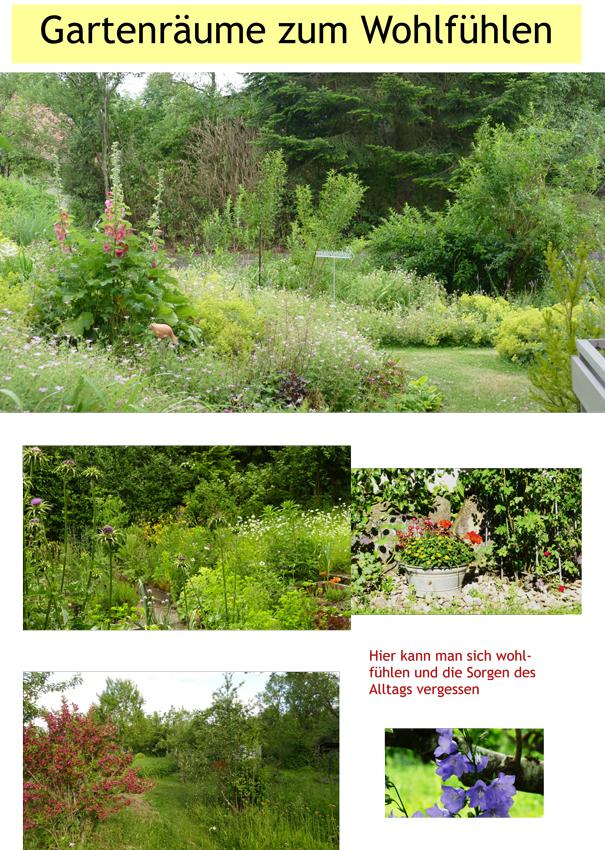 Gartenräume zum Wohlfühlen