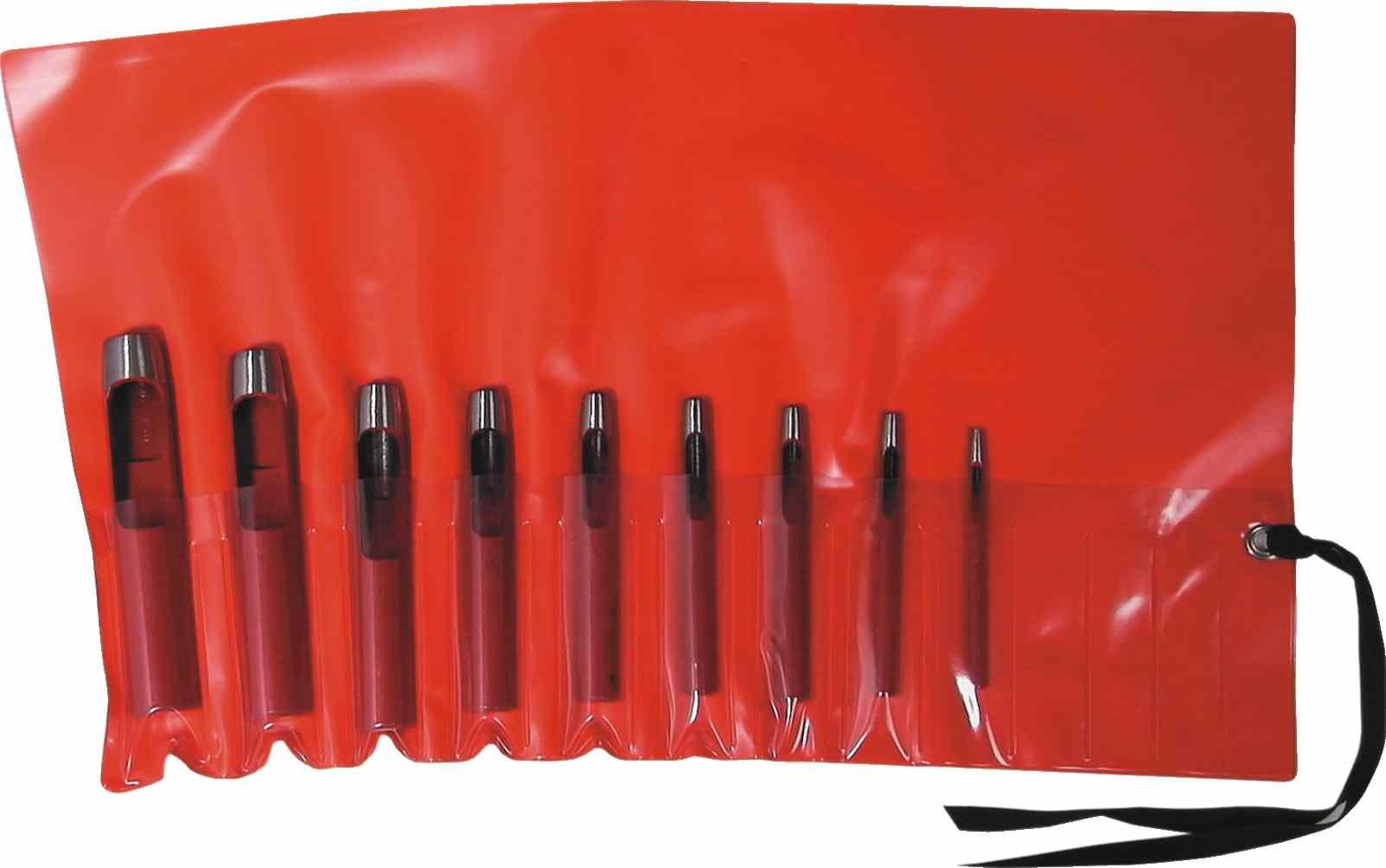 Schlaglochstanzen-Satz (klein) in Kunststoff-Rolltasche