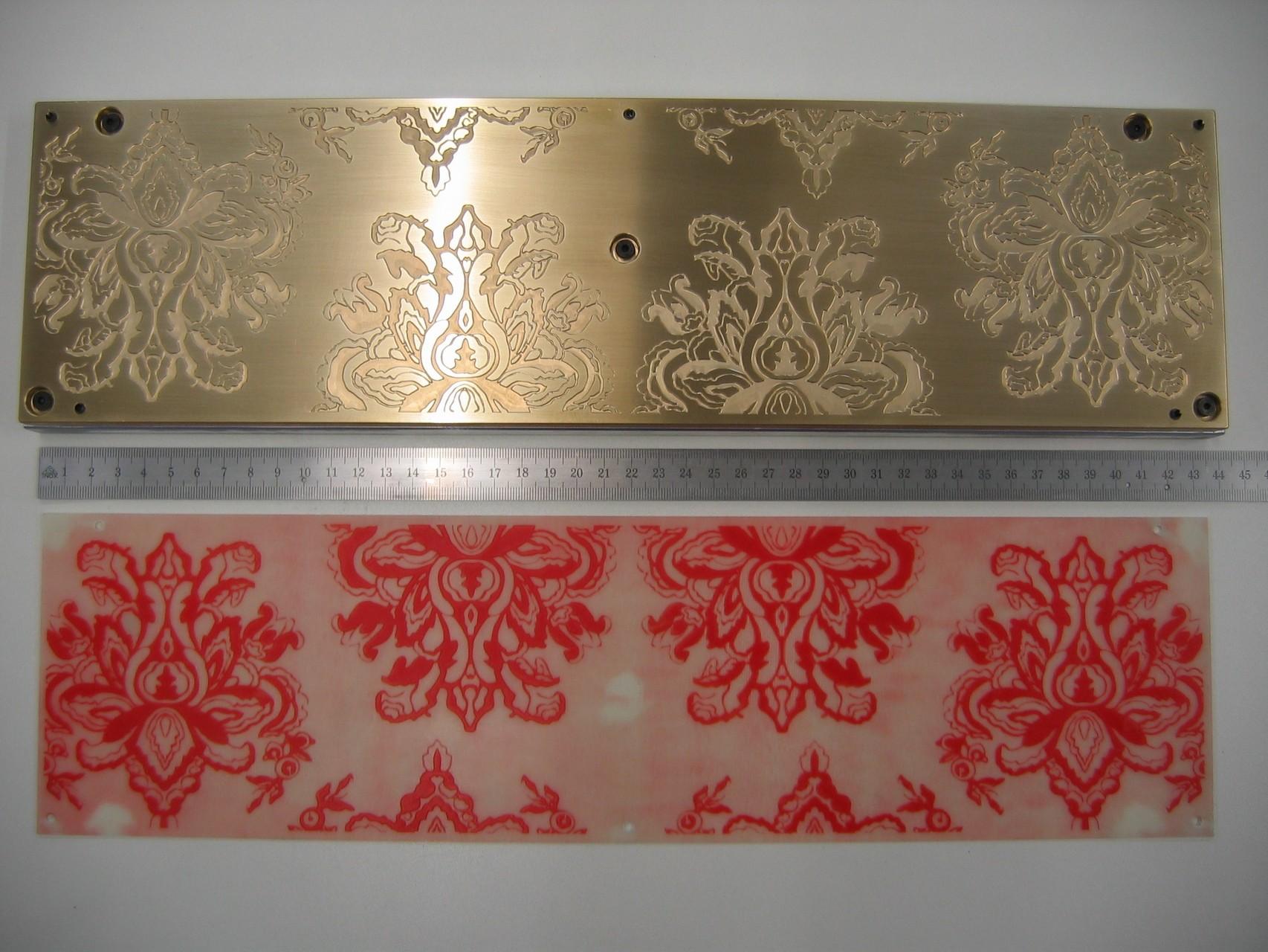 Blindprägestempel mit Aluminium-Fundament und Gießpatrize
