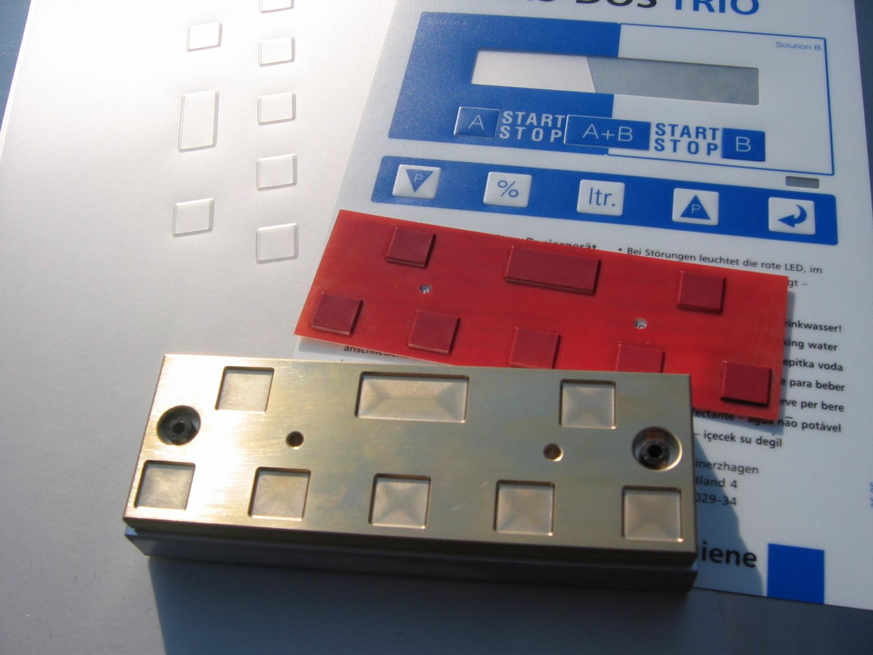 Blindprägestempel für Tastaturfolie