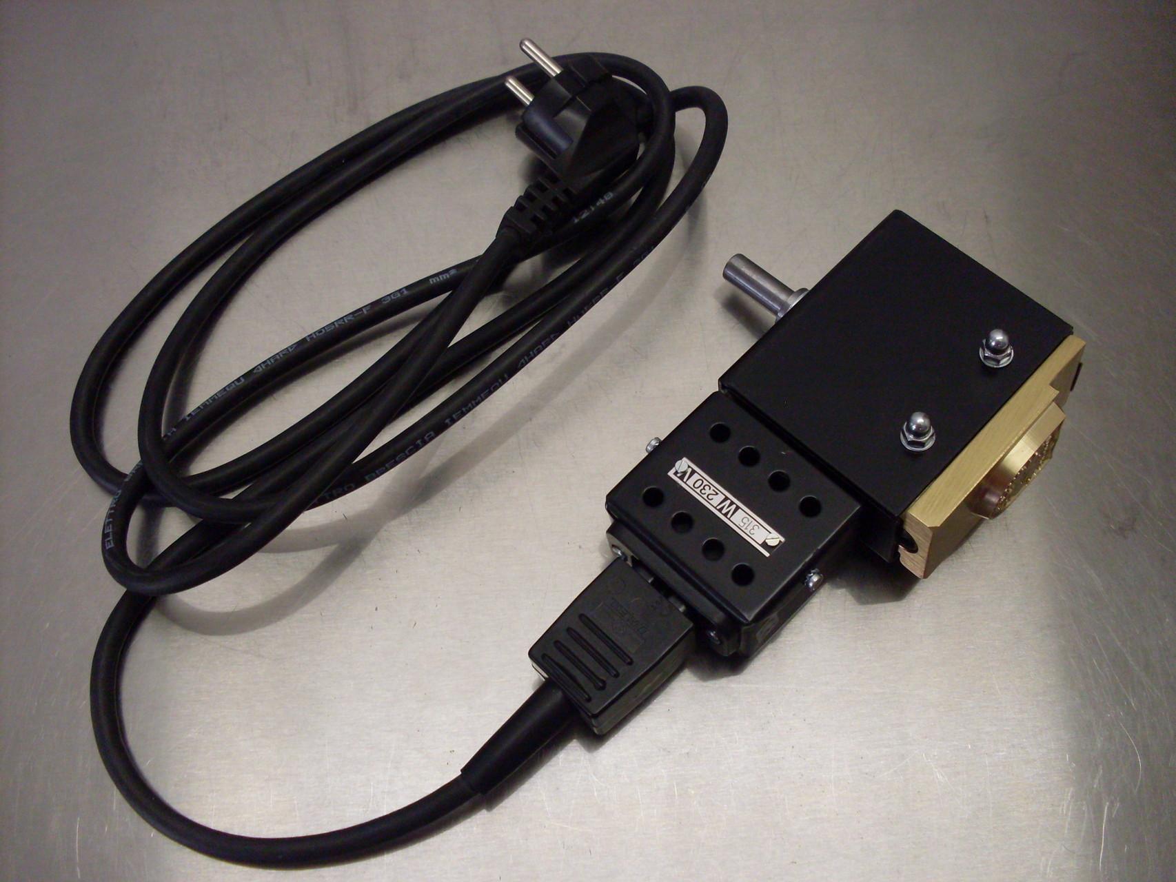 elektrischer Brennstempel mit Aufnahme für z.B. Handhebelpresse oder Ständerbohrmaschine