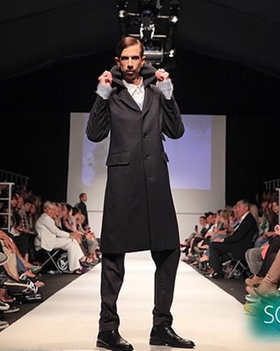 Martin Meister at Vienna Fashion Week for Jenny Schwarz