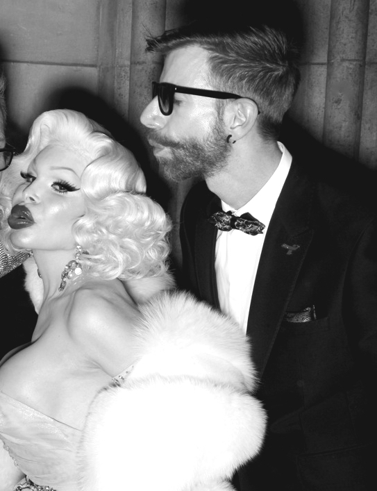 Martin Meister and icon Amanda Lepore photographed by Michael Duerr