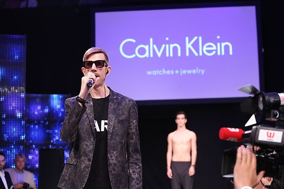 Martin Meister performing from his album Generations for Calvin Klein