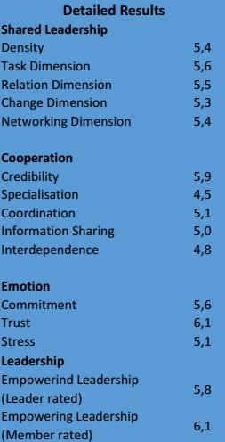 Shared Leadership team report