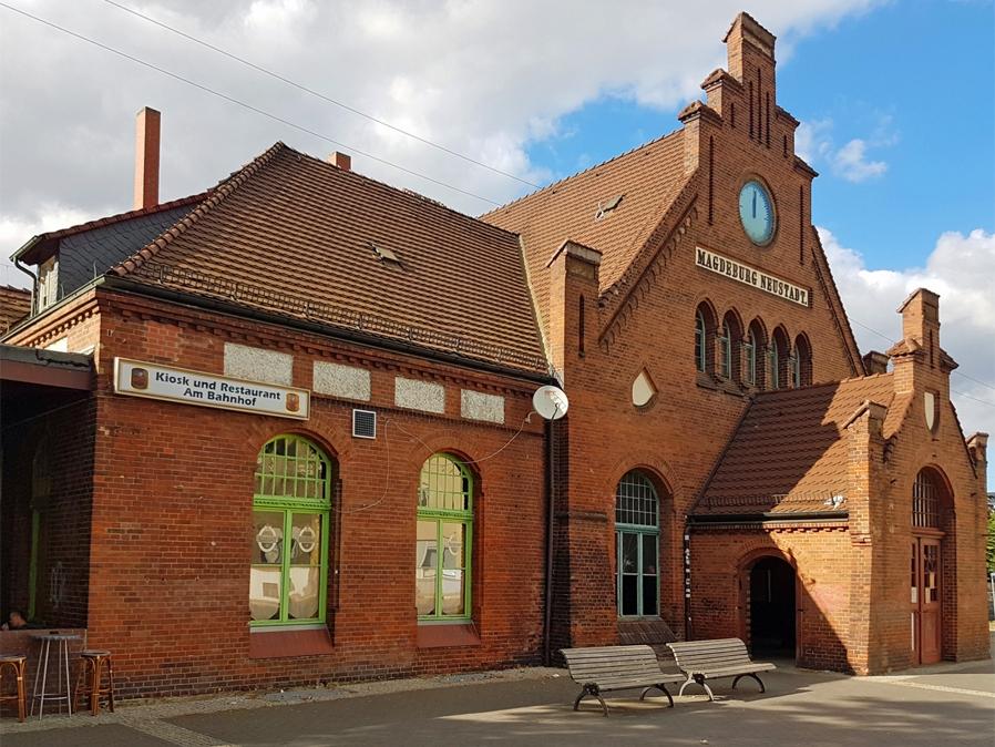 Der Bahnhof Magdeburg-Neustadt ist heute ein Sanierungsfall.