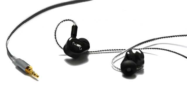 Ecouteurs intra-auriculaires in-ear monitors pour musiciens et professionnels du son Erdre Audio Heron Stage 3